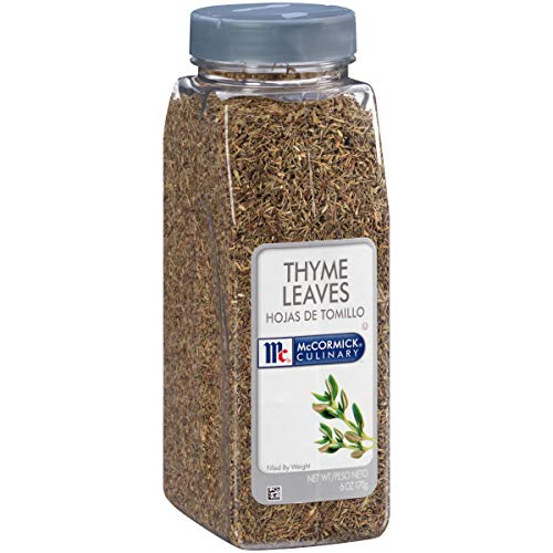 McCormick Culinary Thyme Leaves, 6 oz Salted Salad
