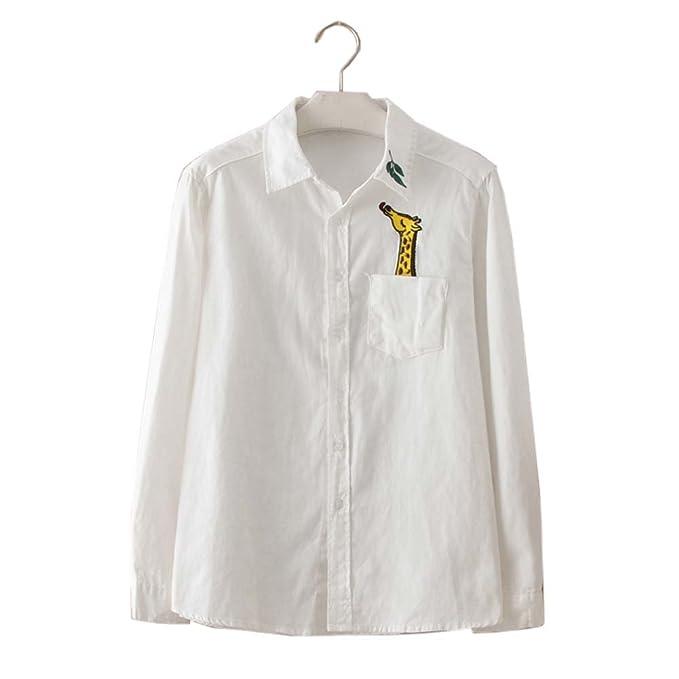 Black Temptation Camisa blanca simple blusa bordada Mujer blusas manga larga blusas, 02