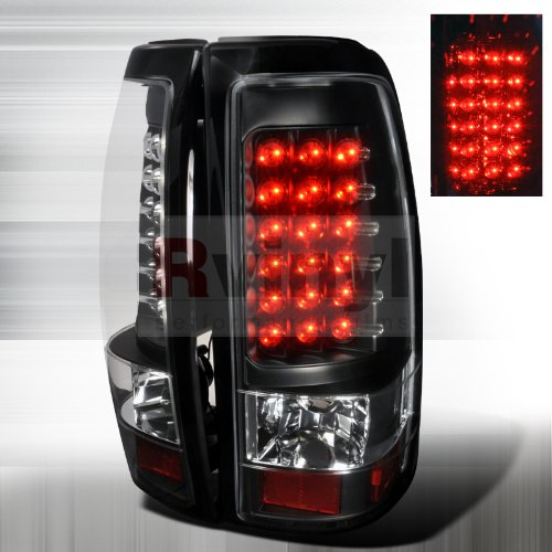 Spec-D Tuning LT-SIV03JMLED-TM Chevy Silverado 1500 Black Led Tail Lights Lamps Pair