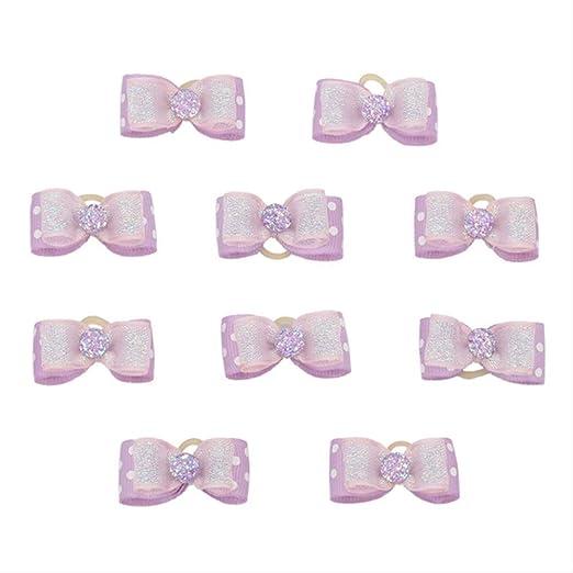 . 10 Arcos de la cinta Pequeño lila con puntos