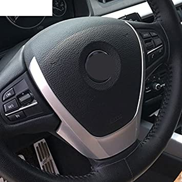 Refurbishhouse Für X3 X4 X5 F15 F25 F26 2014 2016 Abs Chrom Lenkrad Bezug Trim Aufkleber Auto Styling Zubeh R Auto