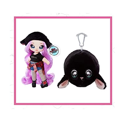 Fashion Doll Na Na Na Surprise 2-in-1 Minna Moody with Black Plush Lamb Zippered Pom: Toys & Games