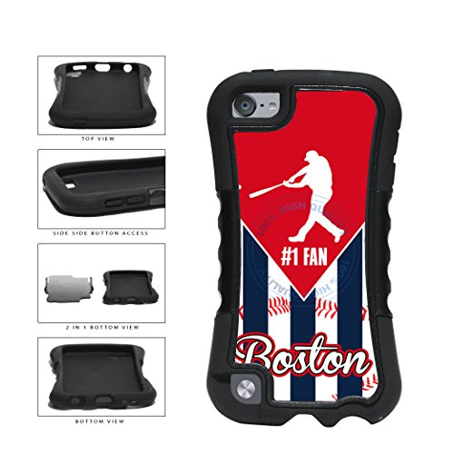 Boston Baseball Number One Fan 2-Piece Dual Layer Phone Case Back Cover For Apple iPod Touch 5th Generation comes with Security Tag and MyPhone Designs(TM) Cleaning Cloth