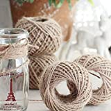 Craft Rope - Rope For Crafts - Jute Twine 30 Meters Natural Sisal 2mm Rustic Tags Wrap Wedding Decoration Crafts Twisted Rope String Cord Events Party Supplies - Thin Craft Rope (primarycolor)