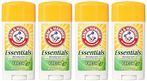 ARM & HAMMER Essentials Natural Deodorant Fresh 2.50 oz (Pack of 4)