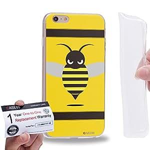 "Case88 [Apple iPhone 6 / 6s Plus (5.5"")] Gel TPU Carcasa/Funda & Tarjeta de garantía - Art Fashion Little Bumblebee B"