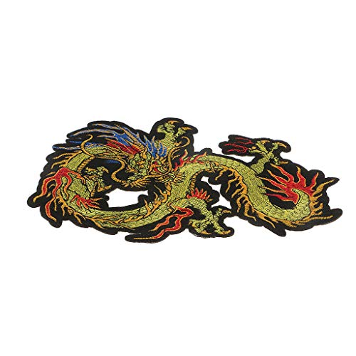 (DIY Embroidered Dragon Patch Sew On Badge Fabric Applique Craft Transfer)