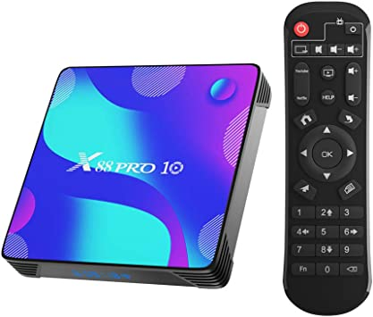 X88 Pro X10 Android 10.0 TV Box,4GB RAM 32GB ROM RK3318 Quad-Core 64bit Cortex-A53 Support 2.4/5.0GHz Dual-Band WiFi BT4.0 3D 4K 1080P H.265 10/100M Ethernet HDMI2.0 Smart TV Box: Amazon.es: Electrónica