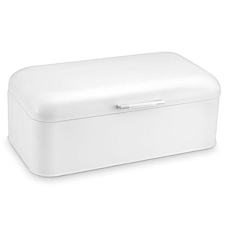 Amazon Com Polder Kth 916201 Retro Bread Box Bin White Breadbox