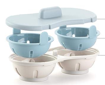 Yuaer Horno microondas huevera Huevo al Vapor de plástico de ...