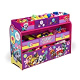 (US) Nickelodeon Paw Patrol Skye and Everest Deluxe Multi-Bin Toy Organizer