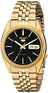 Seiko Men's SNXZ16 Automatic Gold Tone Bracelet Watch