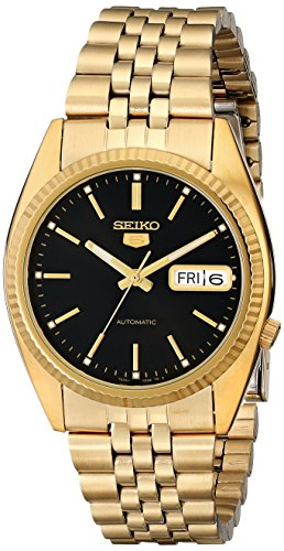Seiko Men S Snxz16 Automatic Gold Tone Bracelet Watch