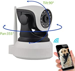 Dog Monitor Camera Monitor Check On Your Pet from Anywhere Any Time Pan Tilt The Camera from Your Smart Phone Dog Cameras with Phone App Two Way Audio HD Indoor WiFi IP Camera 2.4ghz Not 5g