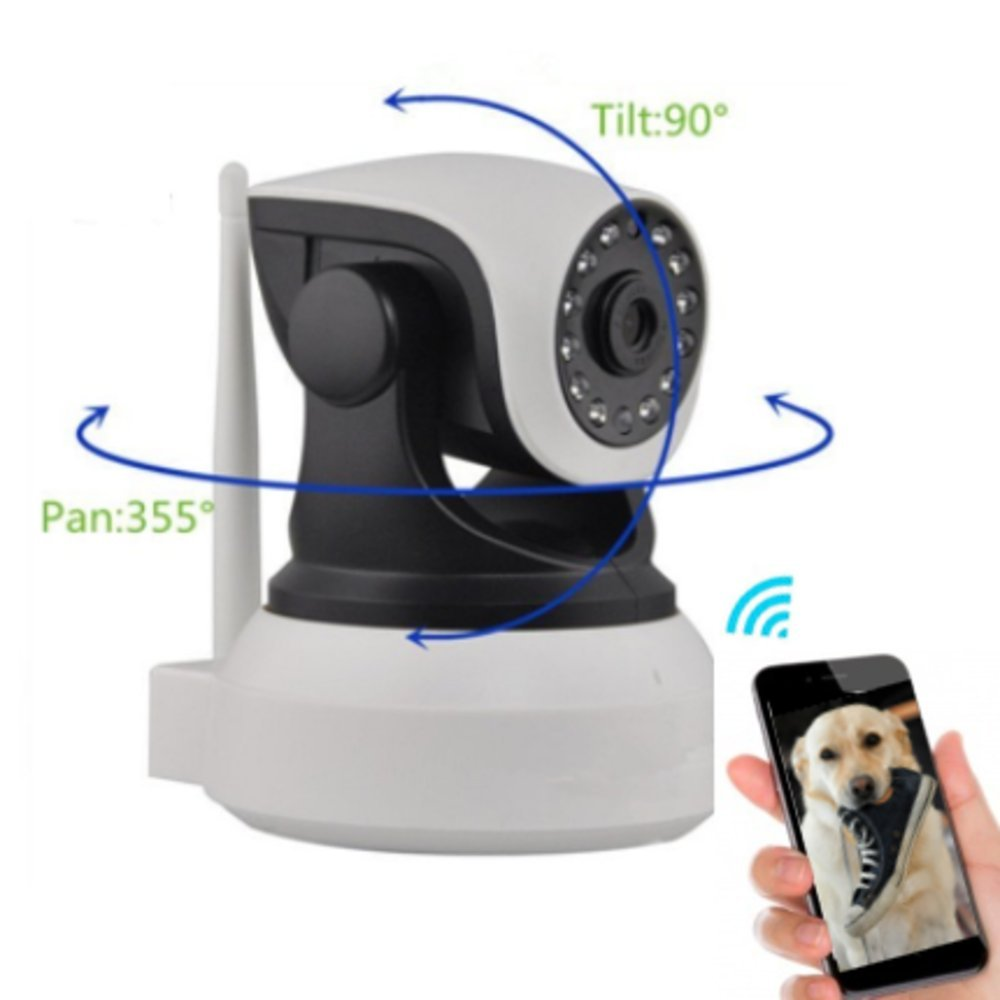 Dog Monitor - Camera Monitor- Check On Your Pet From Anywhere Any Time Pan Tilt The Camera From Your Smart Phone Dog Cameras With Phone App Two Way Audio HD Indoor Wifi IP Camera 2.4ghz Not 5g by RVA Camworks