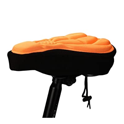 ASHY-ZYP Soft Bike Seat Gel Pad Covers Bicycle Cushion Pad Seat Outdoor Bike Sports Thick Cycling Saddle Cover Protector Accessories (Color : Orange): Home & Kitchen