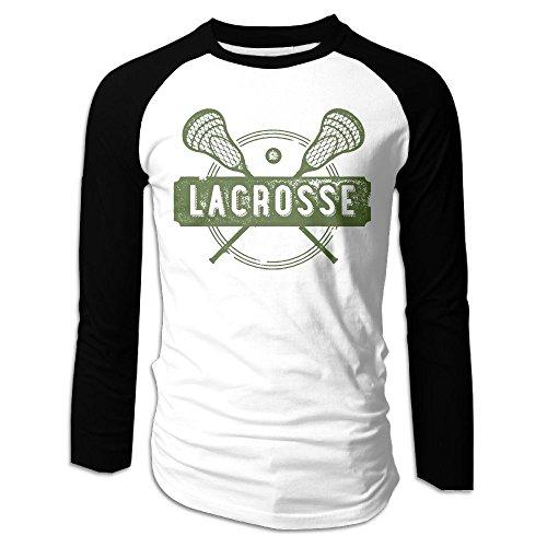 Puppylol Men's Lacrosse Sports Long Sleeve Raglan Baseball Tee XXL
