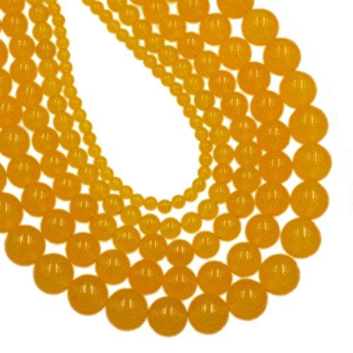 AD Beads Smooth Natural Gemstone Round Loose Beads 15