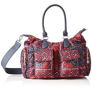 Desigual Bag Arty Atari London, Borsa a Cartella Donna, Marine/Bordeaux