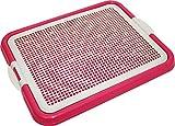Pet Time Dog Toilet Pet Dog Puppy Cat mesh Potty Litter Training pad Holder 21' X 17' AMT-40 (Pink)