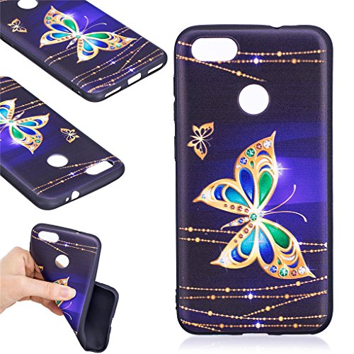 Huawei Y6 Pro 2017 Case, SATURCASE Bas-relief Beautiful Pattern Ultra Thin Soft TPU Gel Silicone Protective Bumper Scratch-resistant Case Cover for Huawei Y6 Pro 2017 / Huawei P9 Lite Mini (Pattern-5)