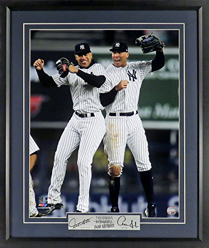 """14 Deluxe Framed Collectible - NY Yankees Aaron Judge & Giancarlo Stanton """"Bronx Bash Brothers"""" 11x14 Photograph (SGA Signature Engraved Plate Series) Framed"""