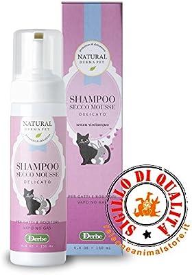 Natural Derma Pet Champú Seco Mousse para gatos y roedores 150 ml ...