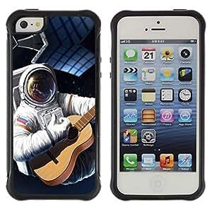 Suave TPU GEL Carcasa Funda Silicona Blando Estuche Caso de protección (para) Apple Iphone 5 / 5S / CECELL Phone case / / Astronaut Russia Flag Guitar Space Suit Travel /