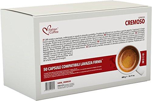 Italian Coffee capsules compatible with RIVO machines (Cremoso, 50)
