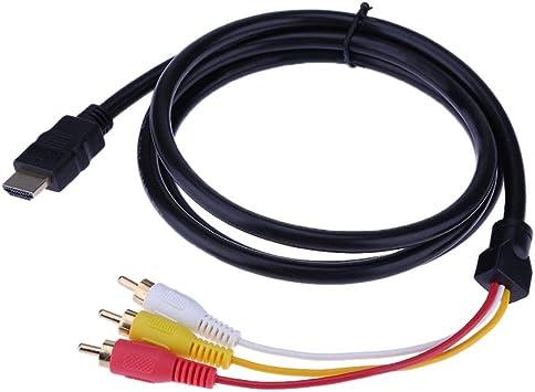 Everpert - Cable de Audio para televisor (1,5 m, HDMI a 3 RCA, Chapado en Oro): Amazon.es: Electrónica