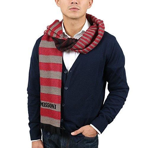 (Missoni SC12WMU5078 0005 Red/Taupe Wool Blend)