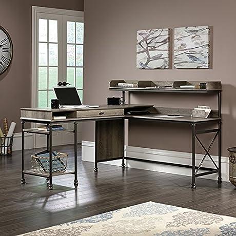 Sauder Canal Street L Desk In Warm Bronze