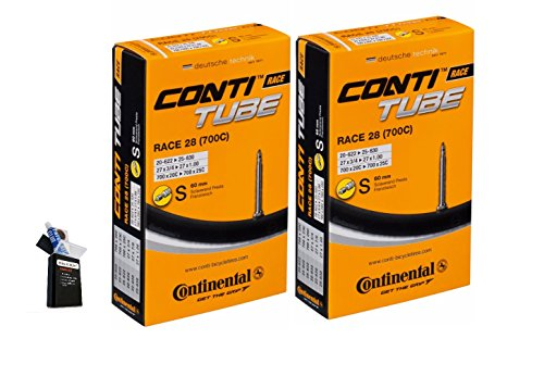 Continental Valve - Continental 60mm Presta Valve Bicycle Tube Pack of 2 (700 x 28 - 47 (27