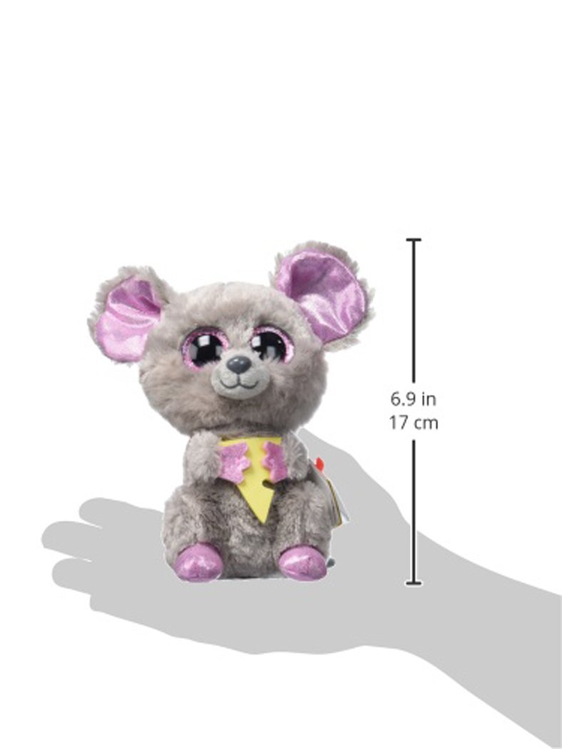 TY - Beanie Boos Squeaker, peluche ratón con queso, 15 cm (United Labels Ibérica 36192TY)