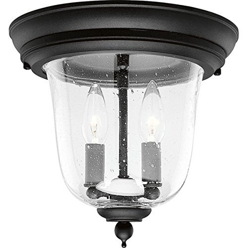 Progress Lighting P5562-31 3-Light Ashmore Hanging Lantern in Cast Aluminum, Textured Black