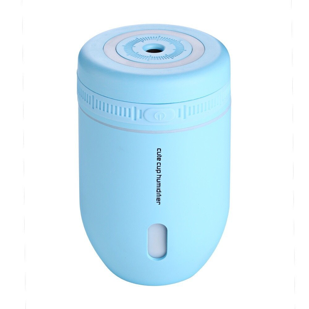 STAJOY Mini Air Humidifier,Cute Cup Car Humidifier,USB Portable Cool Mist LED Night Light with 7 Color Breathing,220ML,8 Hours,AUTO Shut-off For Office,Home,Desk or Bedroom (Blue)