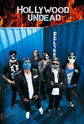 Hollywood Undead Band Members Rap-Rock Music Poster J-4956