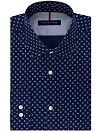 Tommy Hilfiger Men's Non Iron Slim Fit Print Spread...