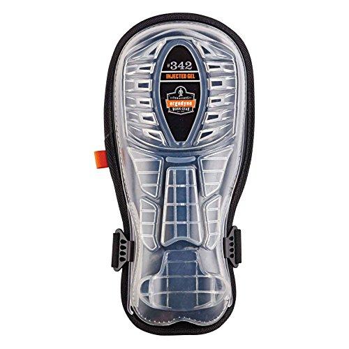 Proflex Knee Gel Pads (Ergodyne - 342 Black Extra Long Cap Injected Gel Knee Pad)