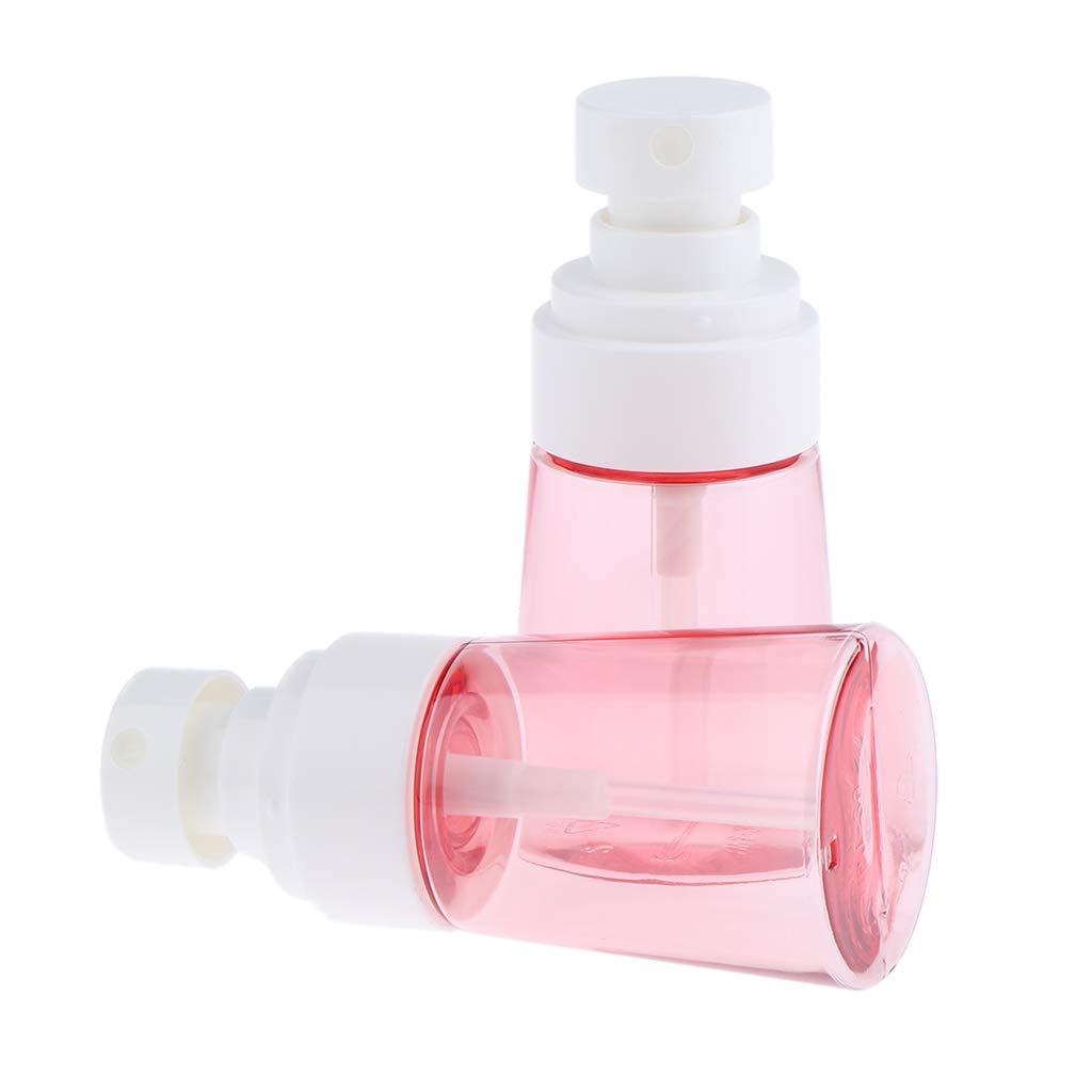 52bf71b38356 Amazon.com: Flameer 2x Empty Plastic Pink Small Travel Fine Mist ...