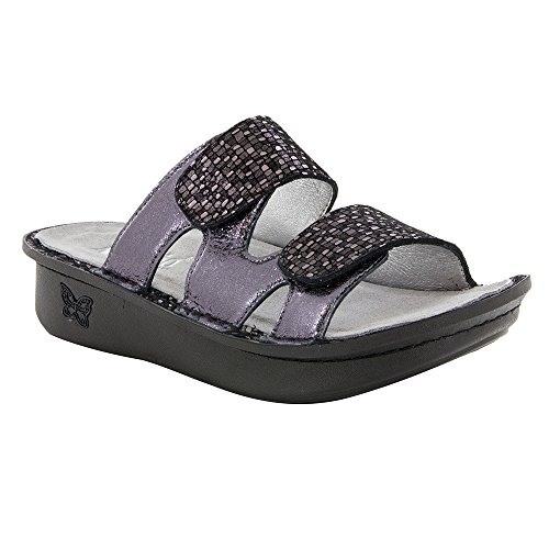 Alegria Women's Camille Tile Me More Pewter Sandal (CAM-767) Size: Euro 35  US 5-5.5 by Alegria