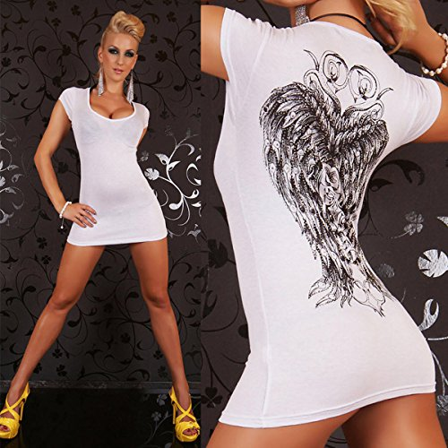 V Sleeve Women's Print Shirt Celtic White Capped Neck Top pzwwxOSqn