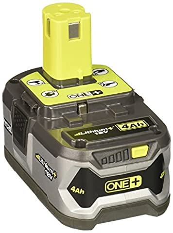 Ryobi P108 4AH One+ High Capacity Lithium Ion Battery For Ryobi Power Tools (Single Battery) (Ryobi P108 Charger)