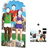 *OLYMPIC PACK* Olympics Podium Stand-in Lifesize Cardboard Cutout / Standee (Olympic Games) - INCLUDES 8X10 (25X20CM) STAR PHOTO - FAN PACK