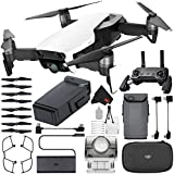 DJI Mavic Air Drone (Arctic White) CP.PT.00000138.01 + DJI Intelligent Flight Battery for Mavic Air + Deluxe Starter Kit + MicroFiber Cloth Bundle
