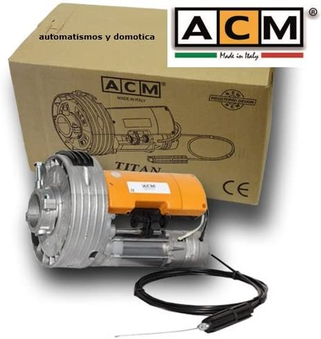 Motor para puerta enrollable ACM Titan 170K para cierre metalico persiana metalica enrollable hasta 170kg de peso, para automatizar puertas de garaje o persianas comerciales