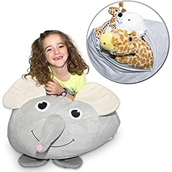 Amazon Com Jumbo Stuffed Animal Storage Bean Bag Soft