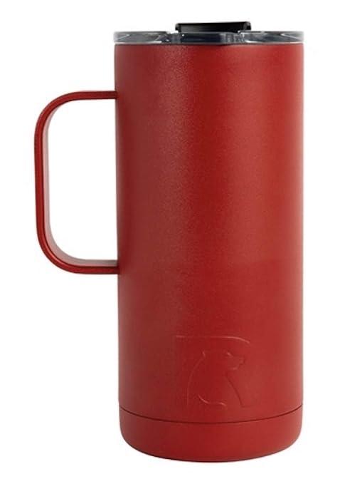 39709b1205b Amazon.com: RTIC Travel Coffee Cup (14 oz), Cardinal: Sports & Outdoors