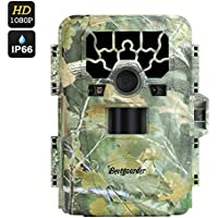 Bestguarder HD Waterproof IP66 Infrared Night Vision Game & Trail Hunting Scouting Ghost Camera Take 12MP Image, 6 Months Standby, 2 Inch Screen, Speaker + Mic, PIR, 23M Night Vision