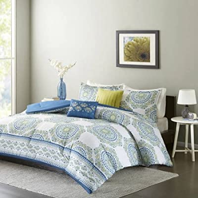 Home Essence Apartment Camryn Medallion Pattern Bedding Polyester Comforter Set Includes 1 Comforter, 1 Standard sham and 2 Decorative pillows (4 Pieces in a bag)